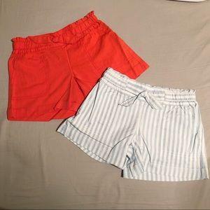 NWT 2 Pairs of Small Girl's Gap Shorts
